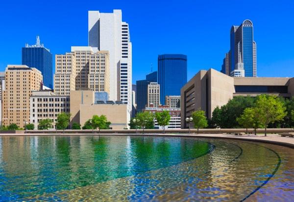 Dallas, TX, skyline