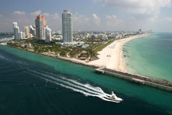 Speed boat near Miami