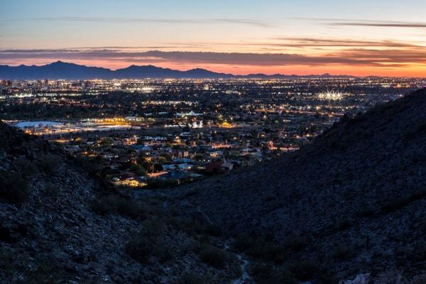 Phoenix, AZ, at dusk