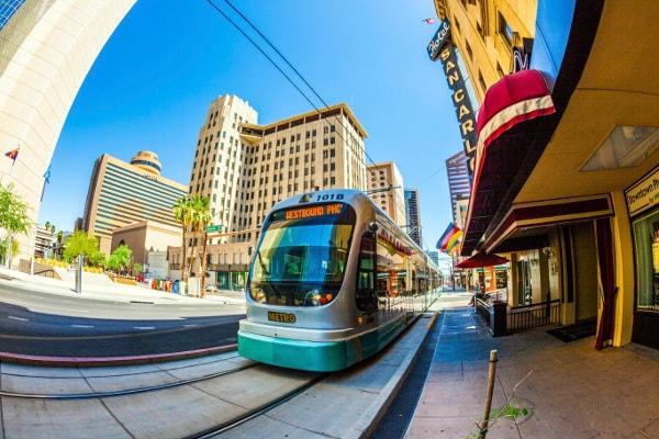 Downtown scene, Phoenix, AZ