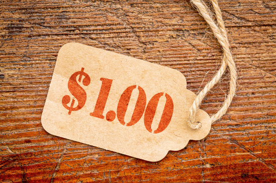 $1 price tag