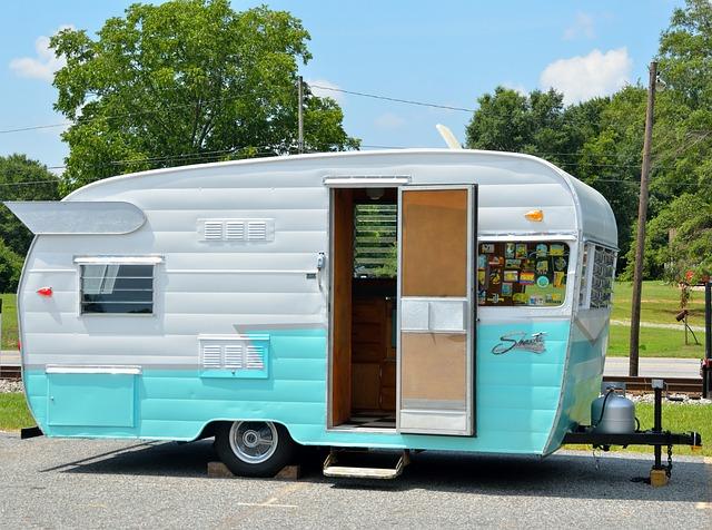 Photo of a retro RV camper