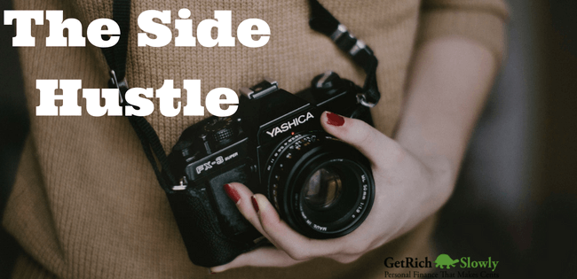 Photo illustration showing one of the best side jobs for extra cash photography