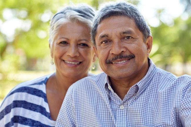 Happy retirement-aged couple