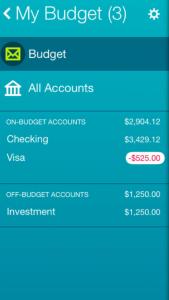 YNAB app screenshot