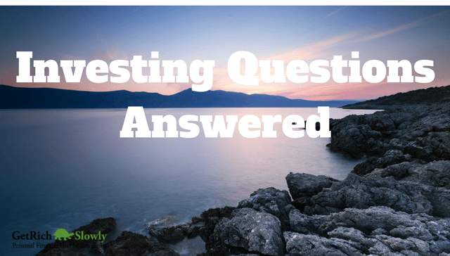 Photo illustration of a lake featuring the subject of this post, common investing questions
