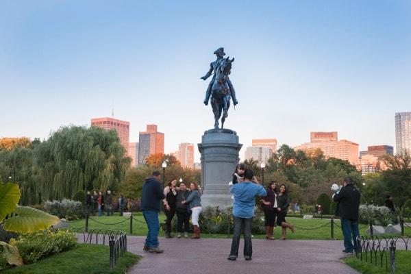 Statue of George Washington in Boston