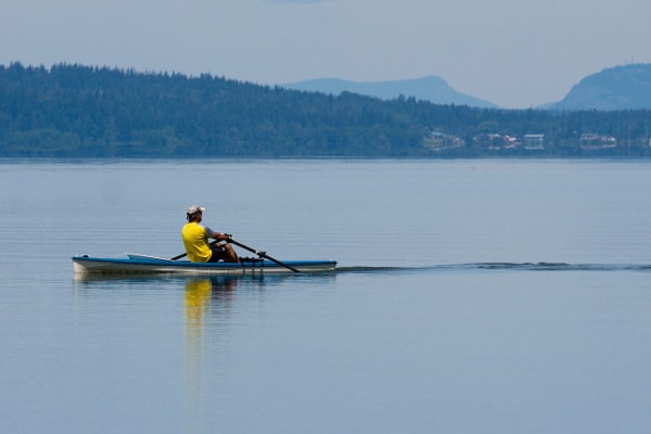 Rowing near Marysville, WA