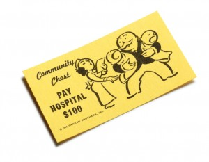Monopoly Pay Hospital $100 Community Chest card