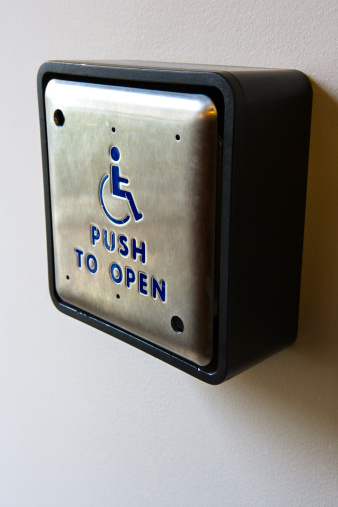 Handicapped push to open