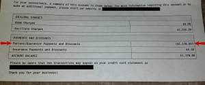 The adjusted medical bill