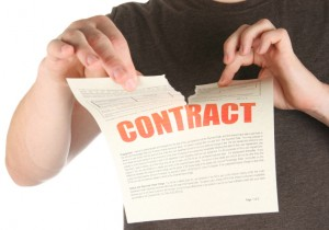 tearing up a contract