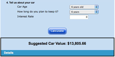 The car calculator says I should spend about $14,000 on a car. I spent $15,000.