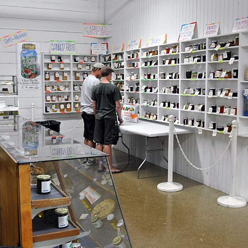 The jams and jellies section at the county fair