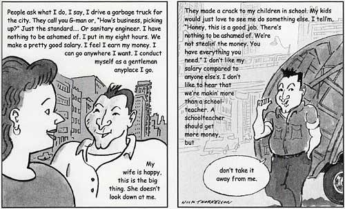 Nick Salerno, garbageman