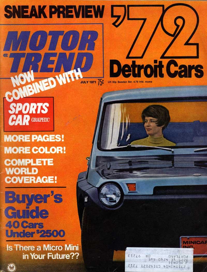 motor trend 1971 40 cars under 2500. Black Bedroom Furniture Sets. Home Design Ideas