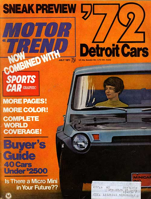 [cover of the July 1971 issue of Motor Trend]