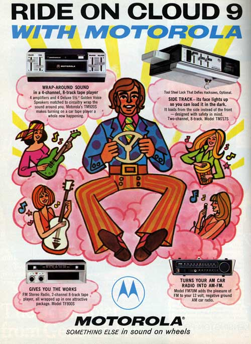 [Advertisement for Motorola stereo products]