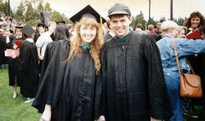 Kris and J.D. at graduation in 1991