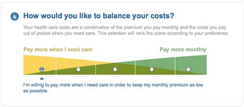 My plan options at my insurance provider