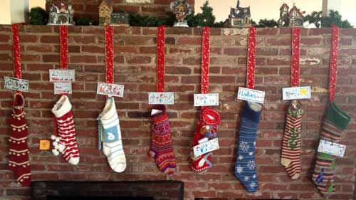 Brokamp stockings hung by the chimney with care