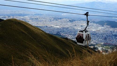 [The teleferico in Quito]