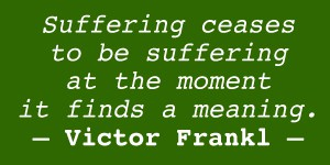 Suffering ceases to be suffering...