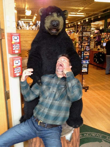 J.D. attacked by bear
