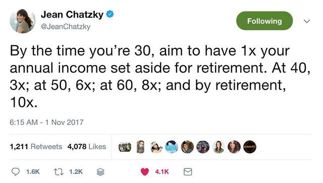 Jean Chatzky tweet