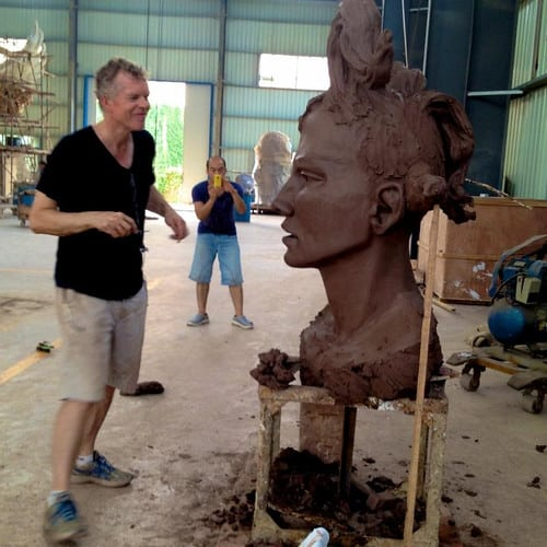 Bob Clyatt, sculpting