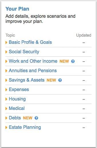 NewRetirement list of topics