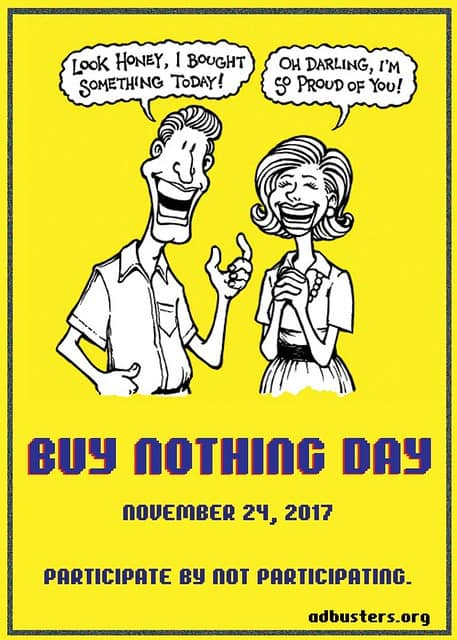Buy Nothing Day 2017