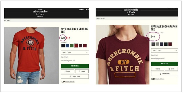 Pink Tax - Abercrombie and Fitch