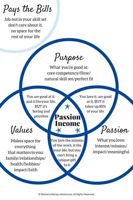 Passion income diagram