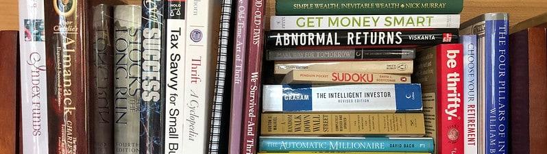 Top Shelf of my Money Books