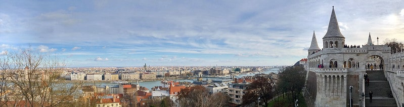 The view from Fishermans Bastion in Budapest