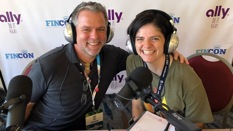 J.D. Roth and Gwen Merz, podcasting