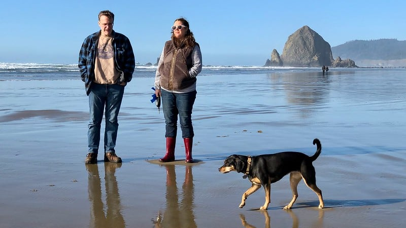 Duane, Kim, and Tally at Cannon Beach
