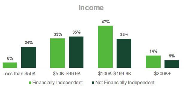 FIRE survey income graph