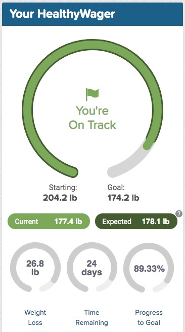 My current weight-loss status