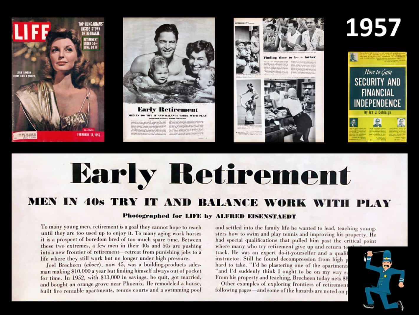 Life magazine on early retirement in 1957