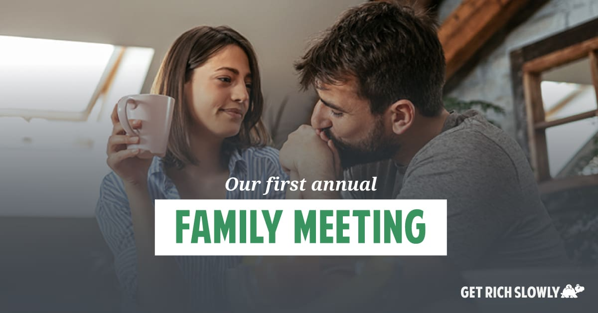 Our first annual family meeting