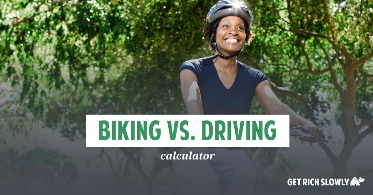 Biking vs. driving calculator