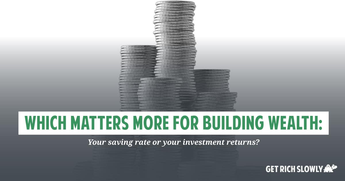 Which matters more for building wealth: Your saving rate or your investment returns?