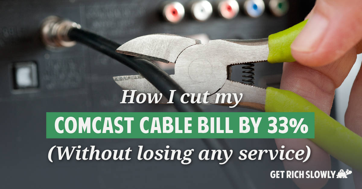 How I cut my Comcast cable bill by 33% (without losing any service)