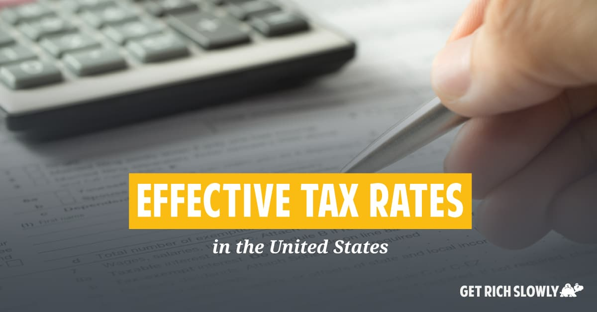 Effective tax rates in the United States