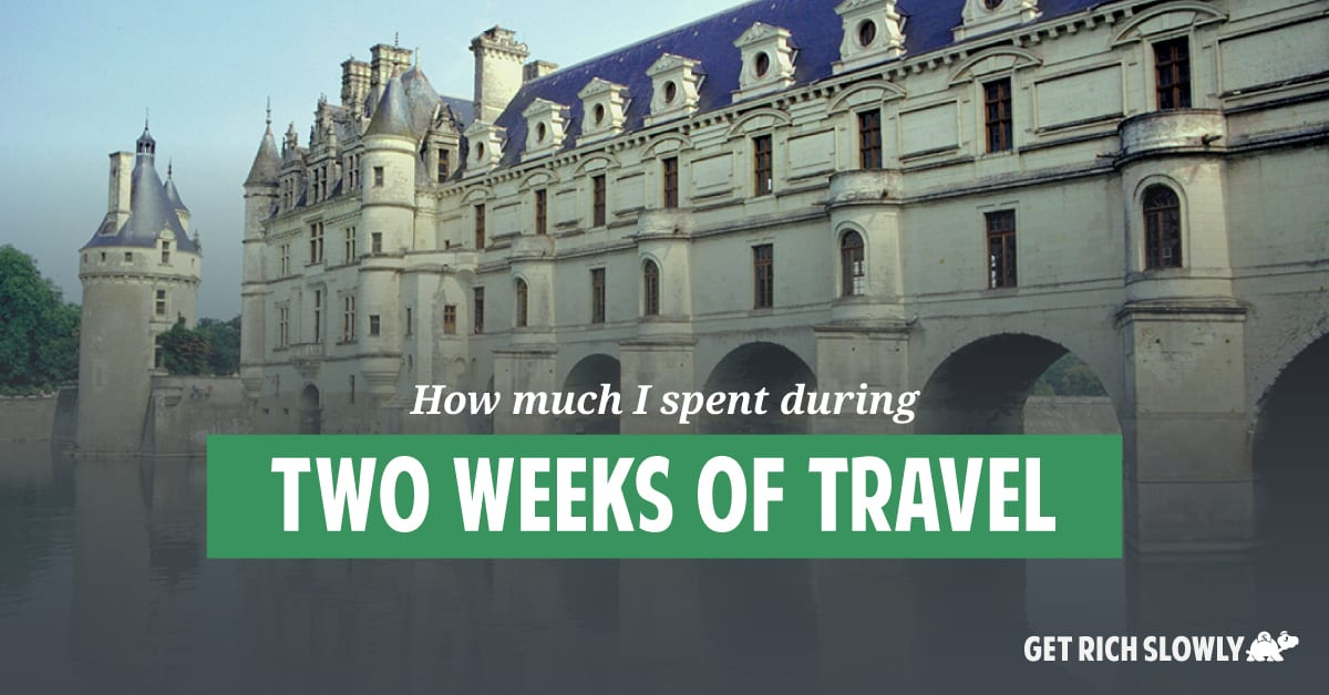 How much I spent during two weeks of travel