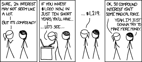 XKCD on compounding