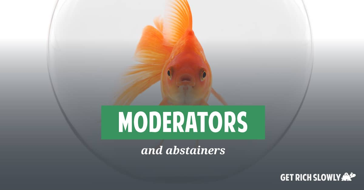 Moderators and abstainers