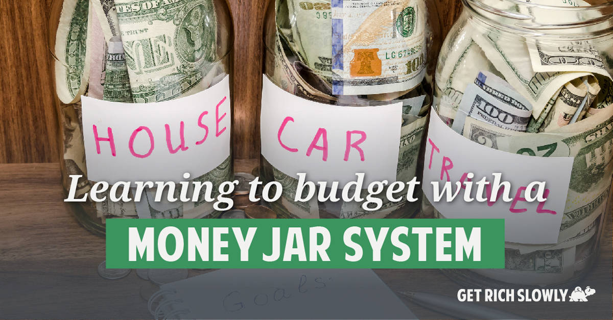 Learning to budget with a money jar system